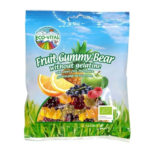 Eco-Vital Fruit Gummy Bears 100g
