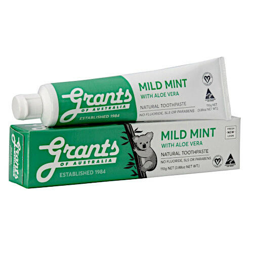 Grants Toothpaste Mild Mint with Aloe 110g