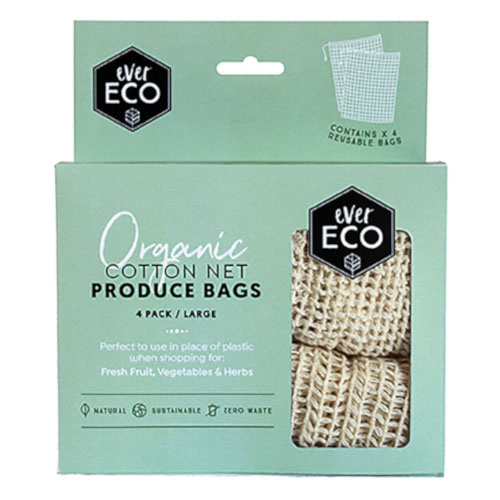 Ever Eco Organic Cotton Net Produce Bags 4 pck